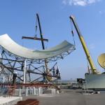 монтаж антенной системы МАС