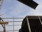 Сборка железобетонных конструкций с использованием крана