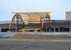 монтаж торгового комплекса в Буграх