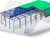 3D модель каркаса помещения