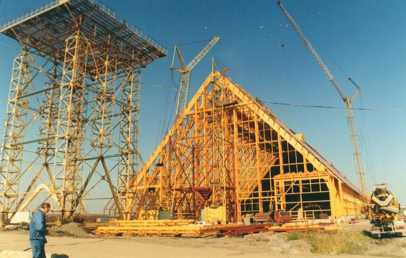 Установка деревянных конструкций
