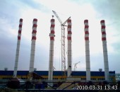 Монтаж металлоконструкций 6-ти труб
